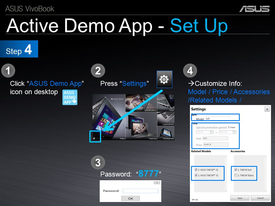 Active Demo App - Set Up 1 2 4 3 Step 4