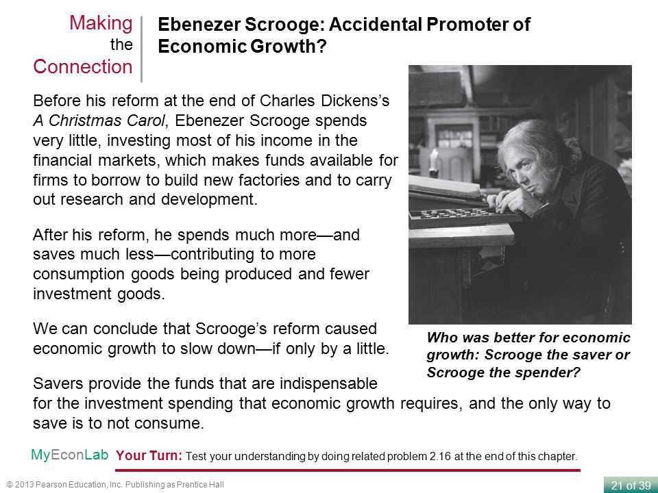 Making the Connection Ebenezer Scrooge: Accidental Promoter of Economic Growth
