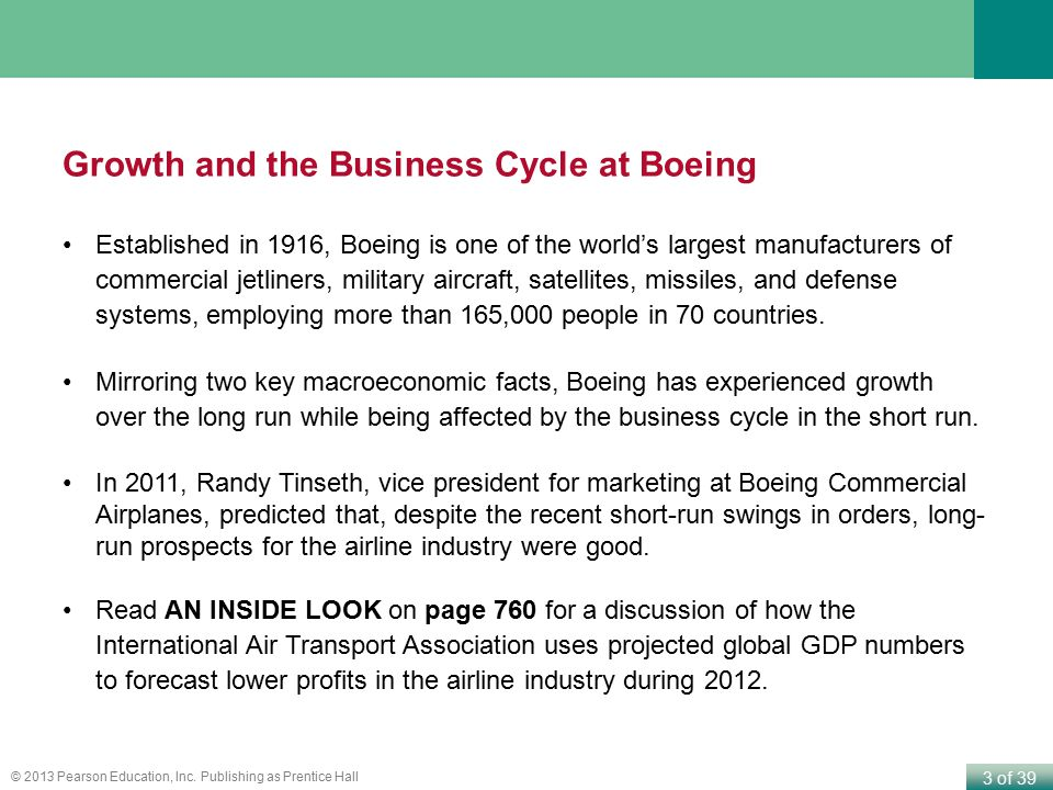 Growth and the Business Cycle at Boeing