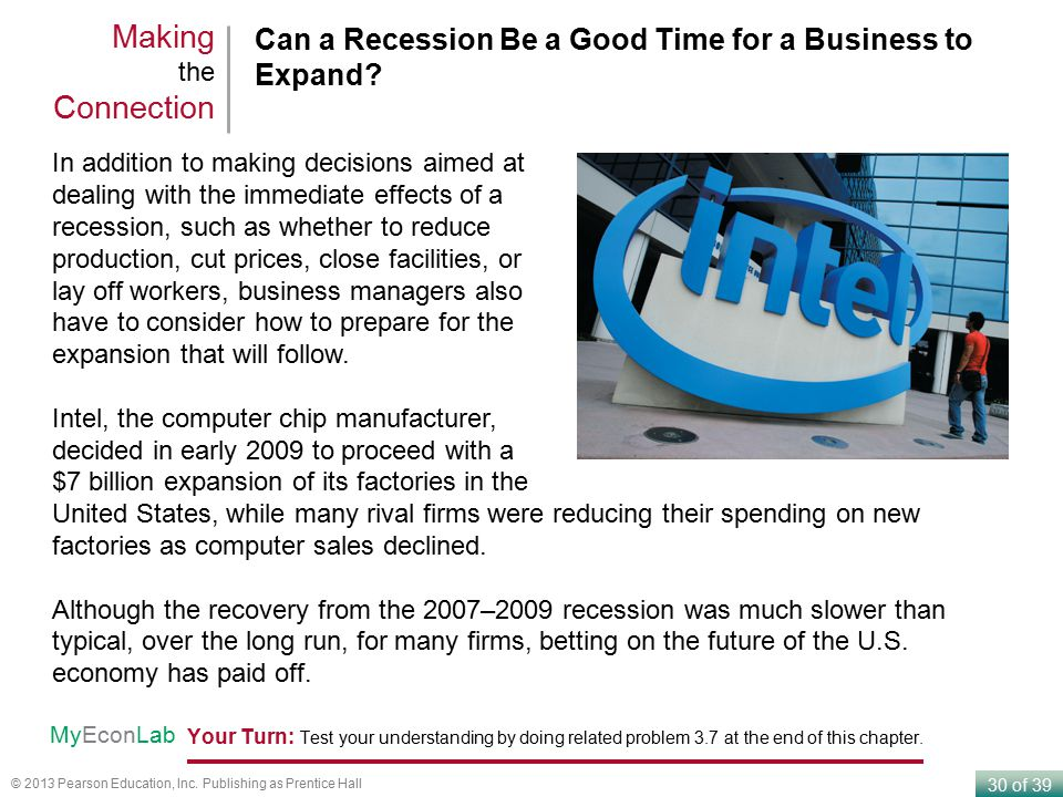 Making the Connection Can a Recession Be a Good Time for a Business to Expand