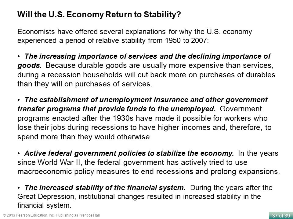 Will the U.S. Economy Return to Stability