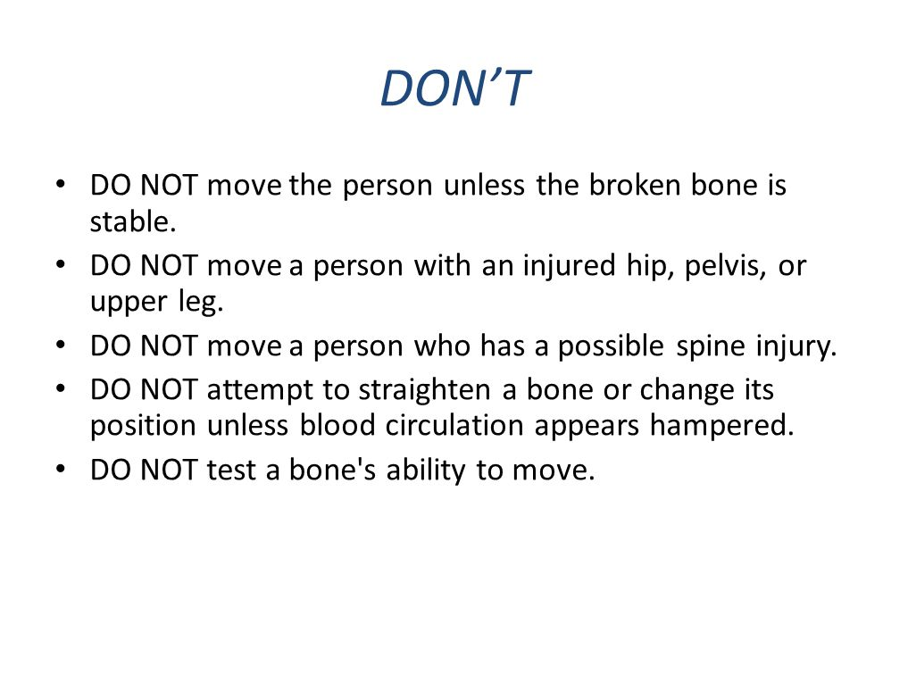 For minor injuries: RICE Rest the injured limb.