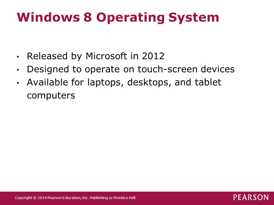 Windows 8 Operating System