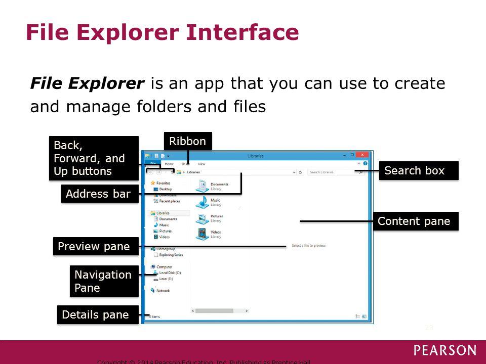 File Explorer Interface