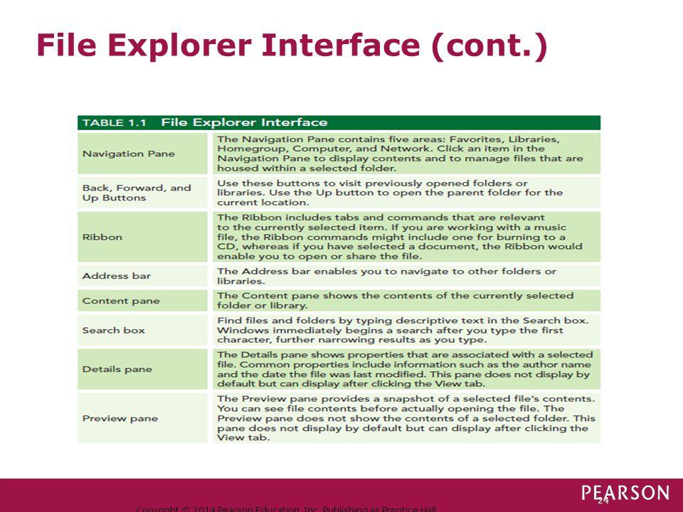 File Explorer Interface (cont.)