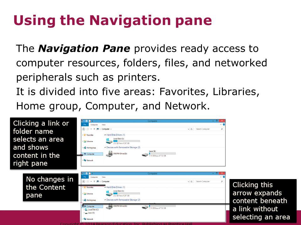 Using the Navigation pane