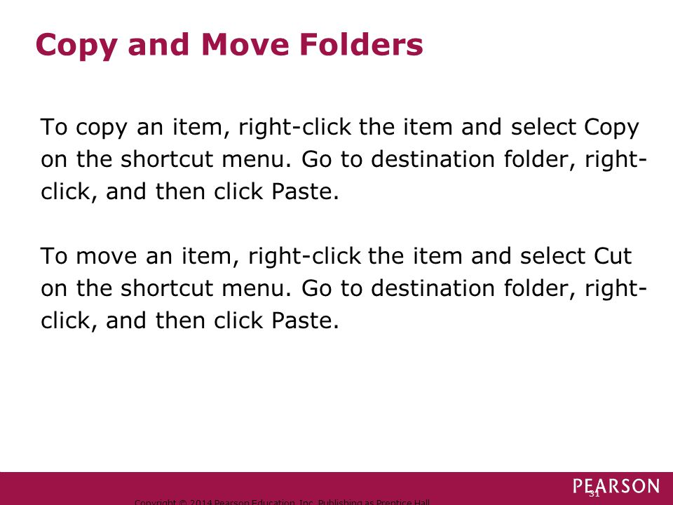 Copy and Move Folders