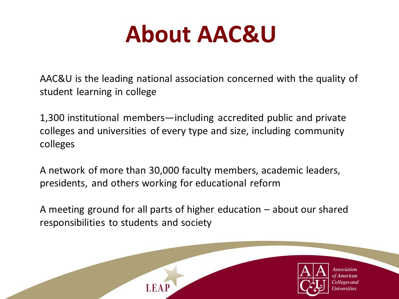 About AAC&U