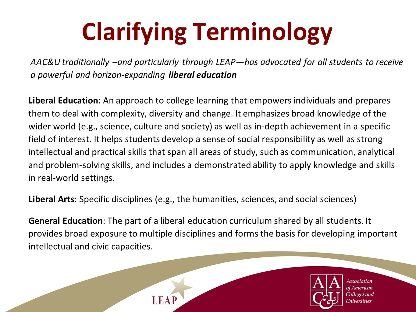 Clarifying Terminology