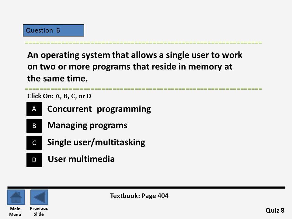 Concurrent programming