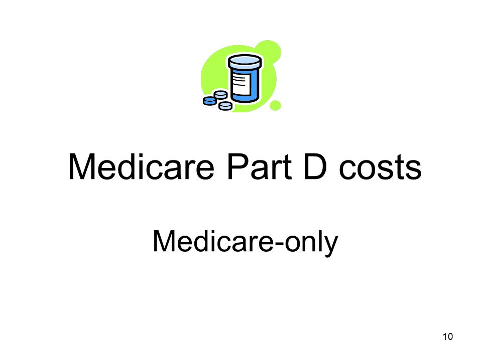 Medicare Part D costs Medicare-only