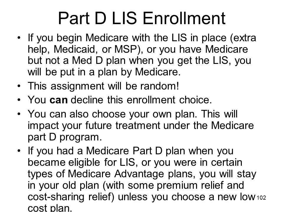 Part D LIS Enrollment