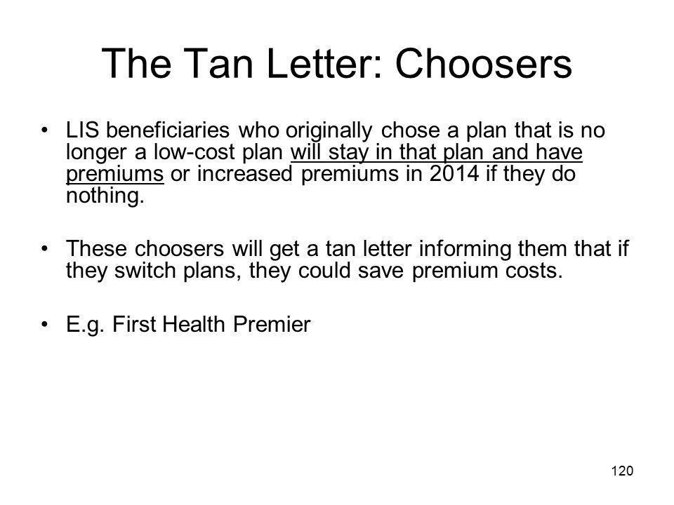 The Tan Letter: Choosers