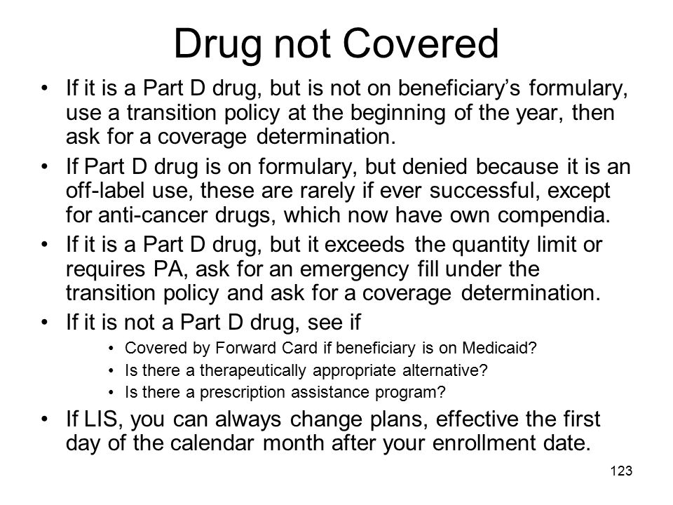 Drug not Covered