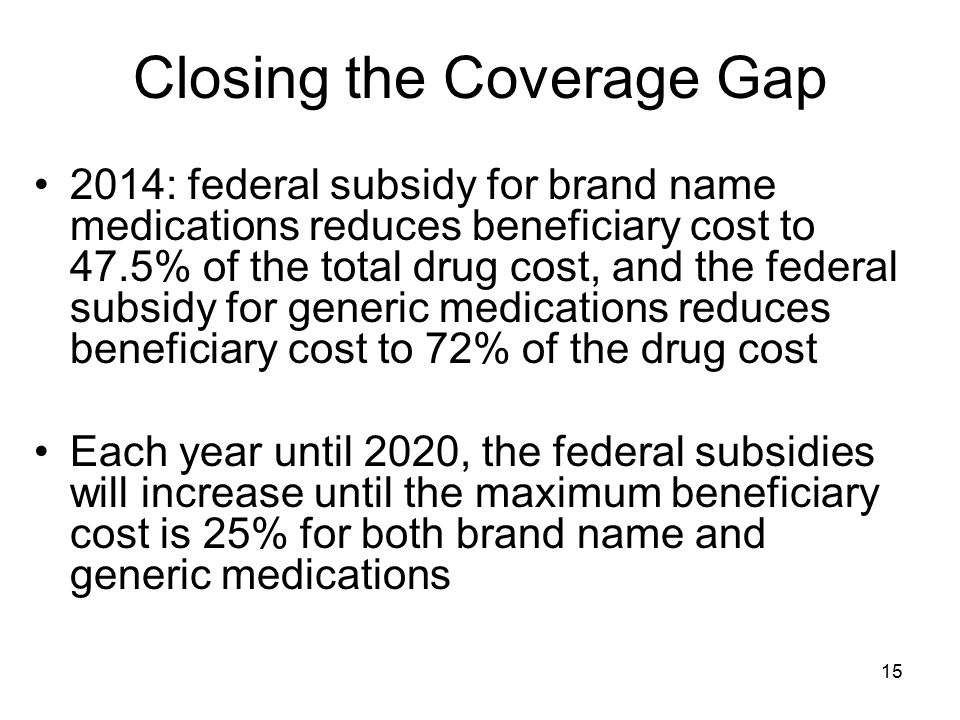 Closing the Coverage Gap