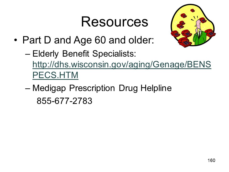 Resources Part D and Age 60 and older: