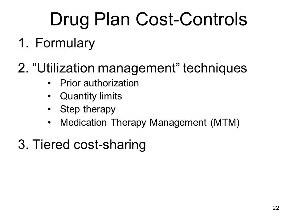 Drug Plan Cost-Controls