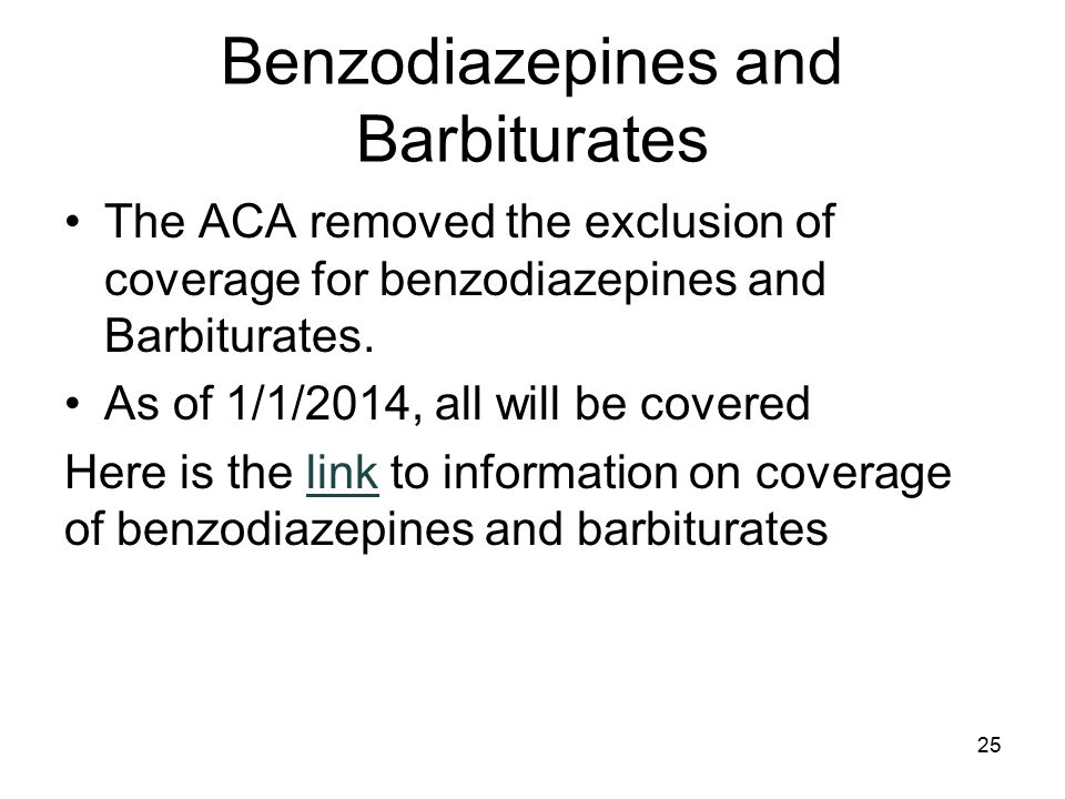 Benzodiazepines and Barbiturates