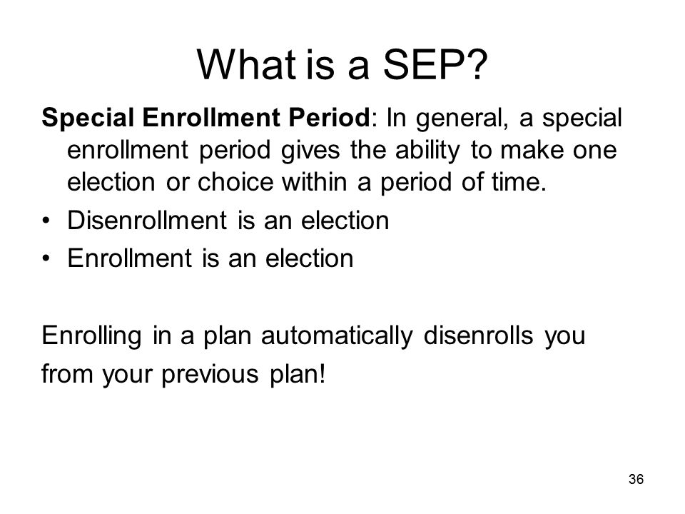 What is a SEP