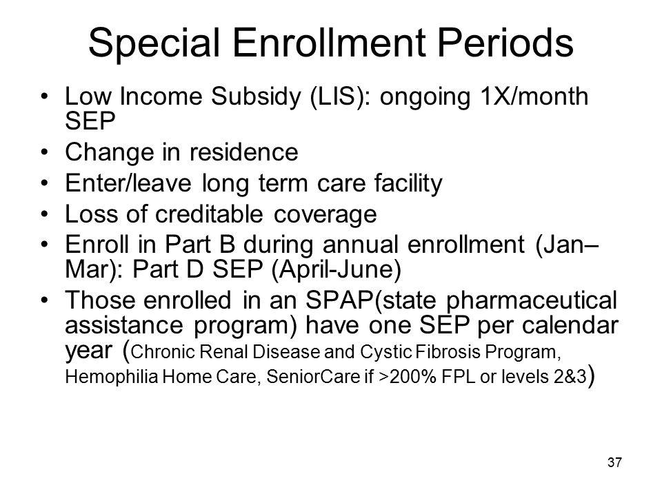Special Enrollment Periods