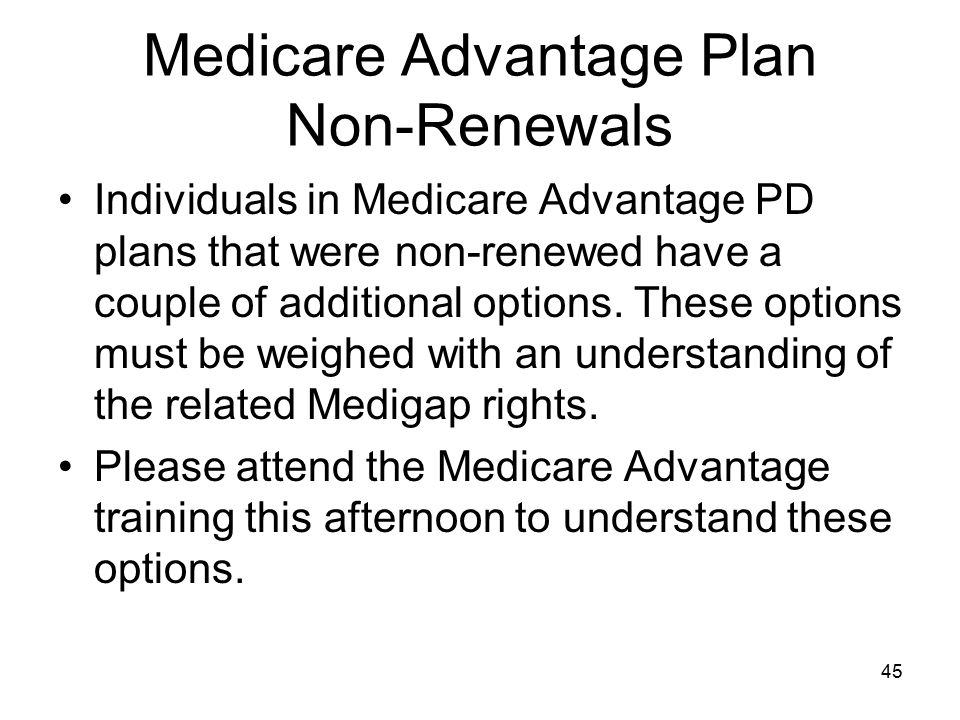 Medicare Advantage Plan Non-Renewals