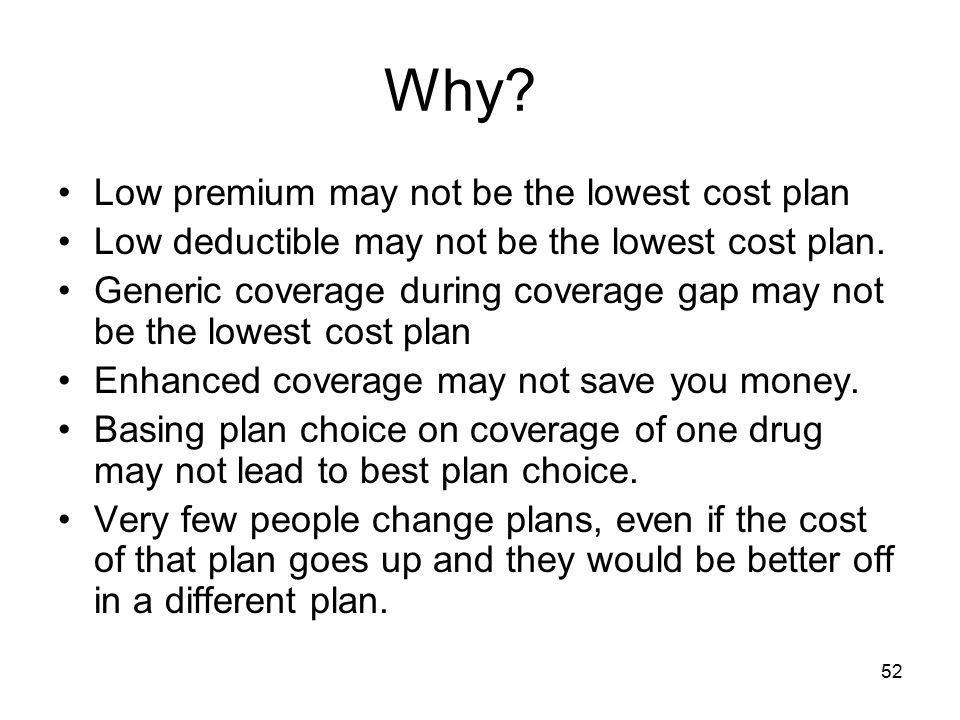 Why Low premium may not be the lowest cost plan