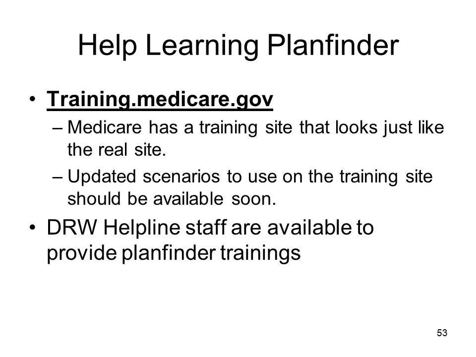 Help Learning Planfinder