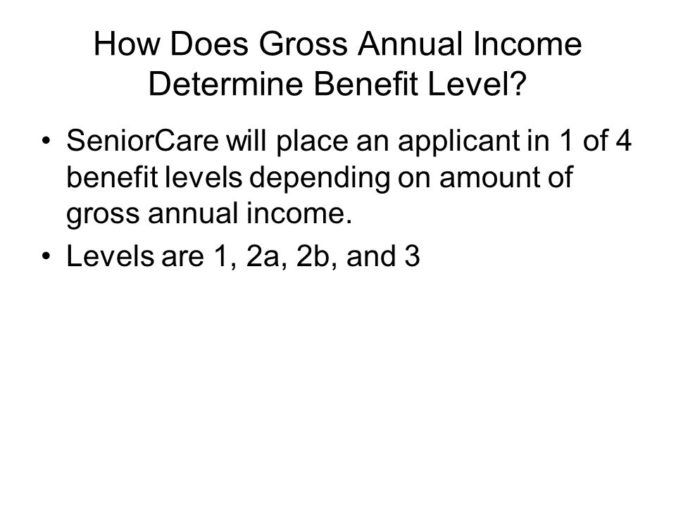 How Does Gross Annual Income Determine Benefit Level