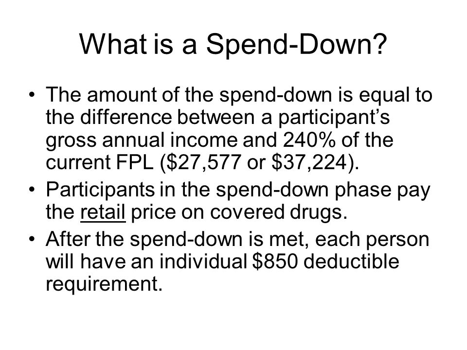 What is a Spend-Down
