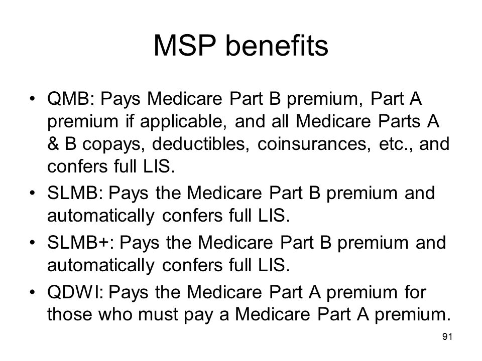 MSP benefits