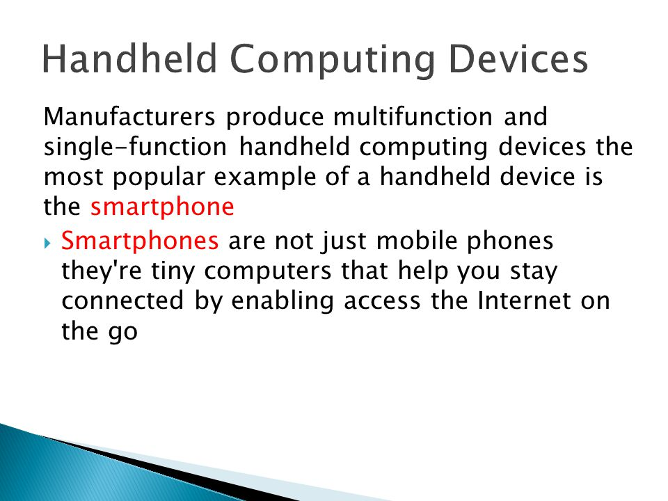 Handheld Computing Devices