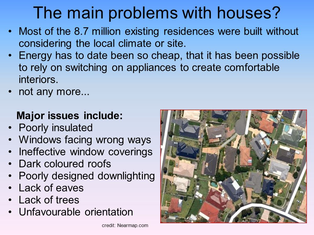 The main problems with houses