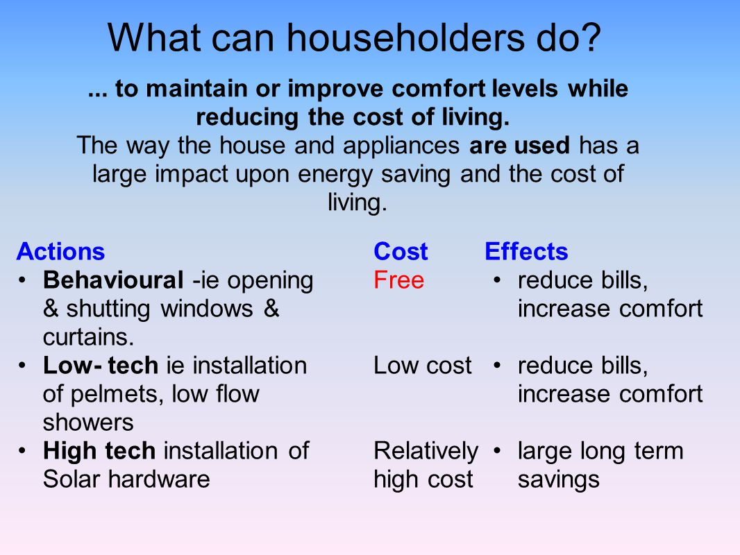 What can householders do