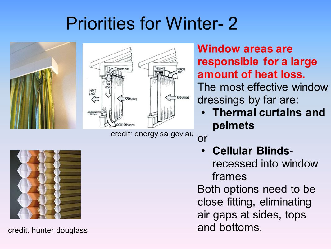 Priorities for Winter- 2