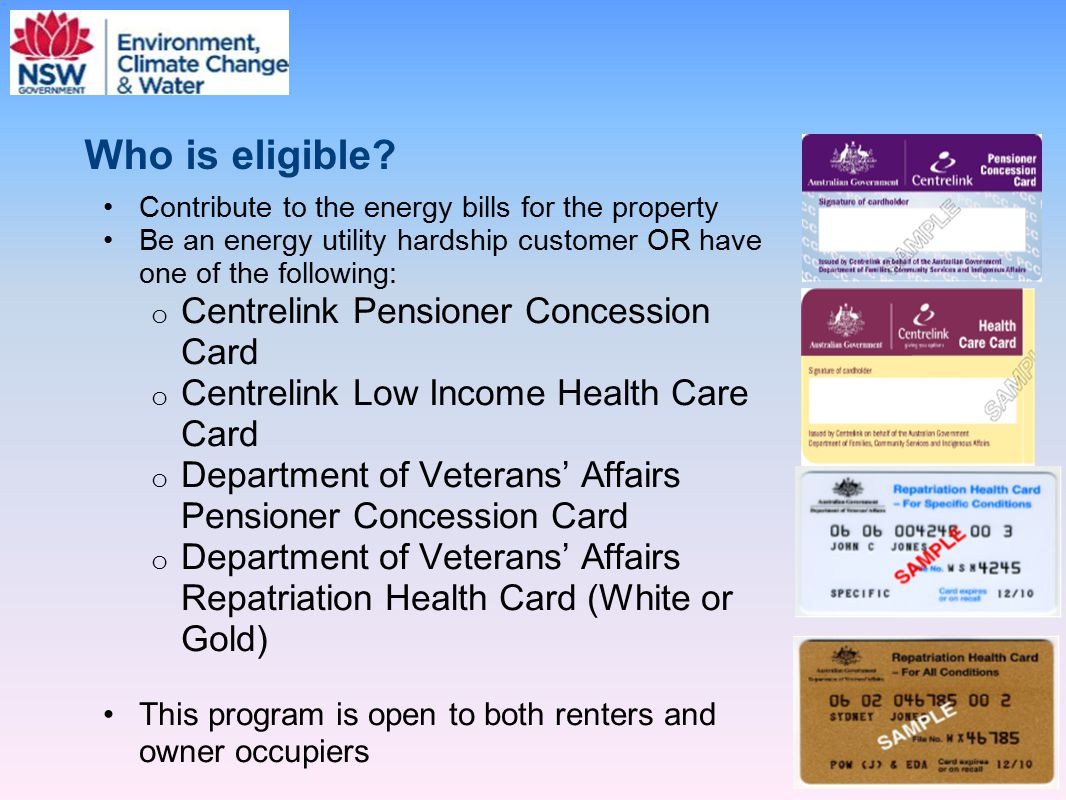 Who is eligible Centrelink Pensioner Concession Card