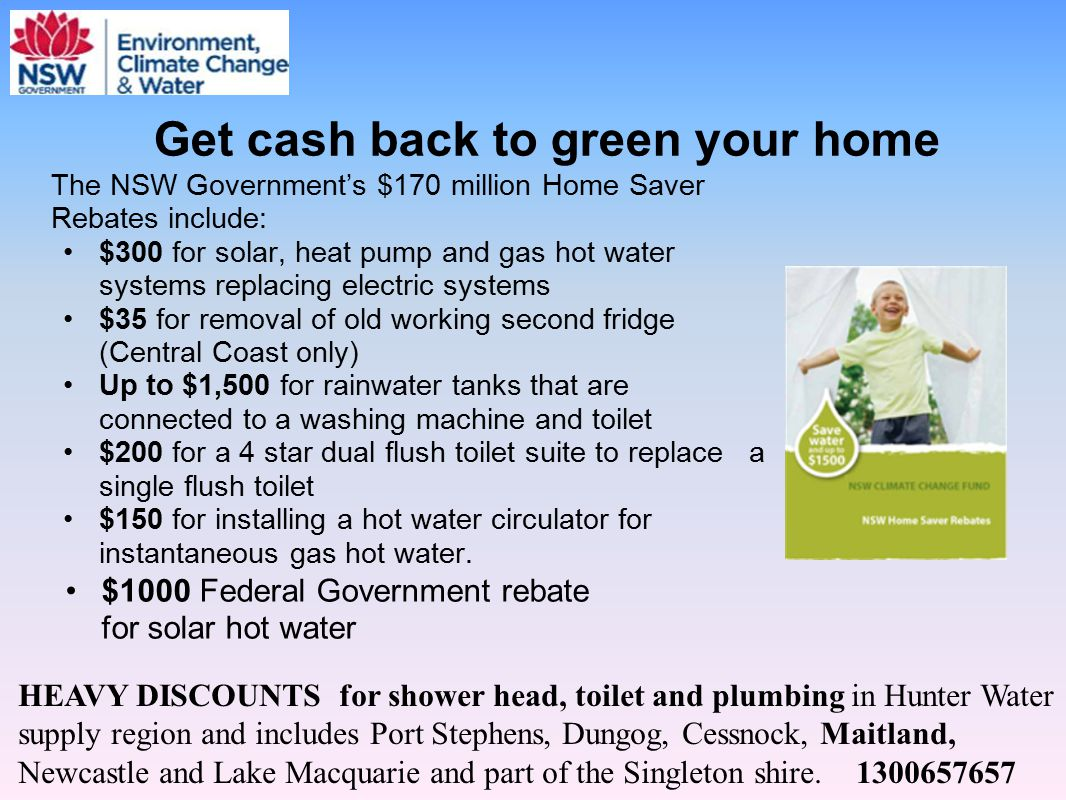 Get cash back to green your home