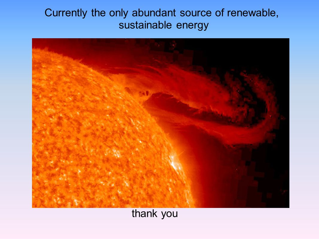Currently the only abundant source of renewable,