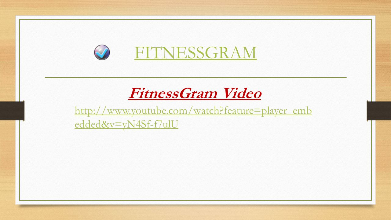 FITNESSGRAM FitnessGram Video