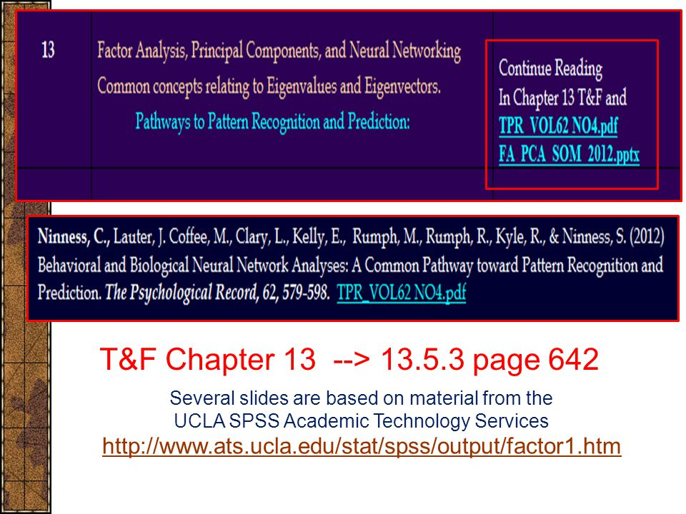 T&F Chapter 13 --> 13.5.3 page 642