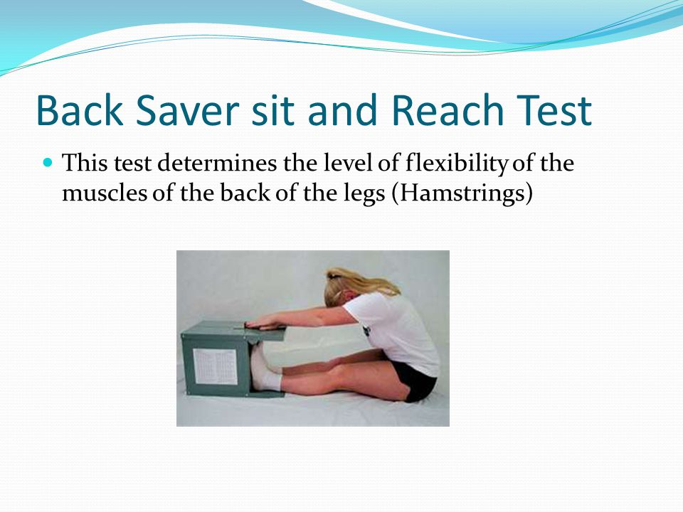 Back Saver sit and Reach Test