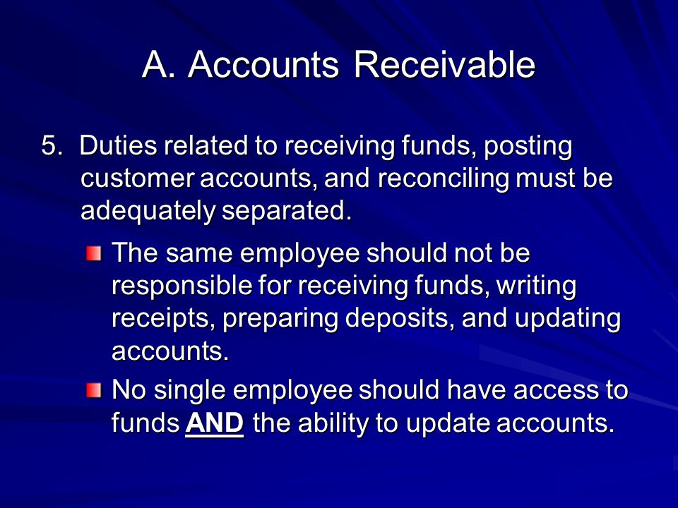 February 23, 2011 4/11/2012. A. Accounts Receivable.