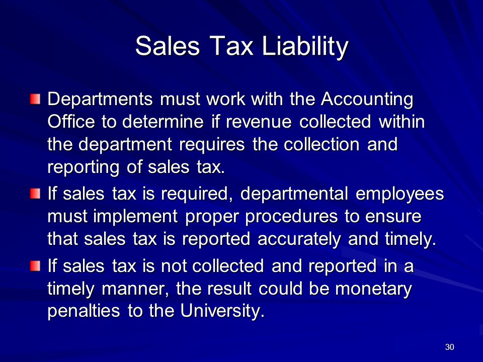 4/11/2012 Sales Tax Liability.