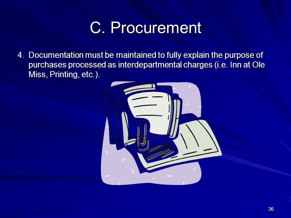 4/11/2012 C. Procurement.