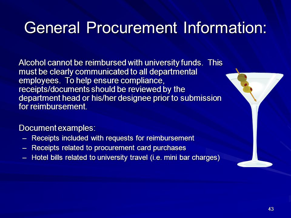 General Procurement Information: