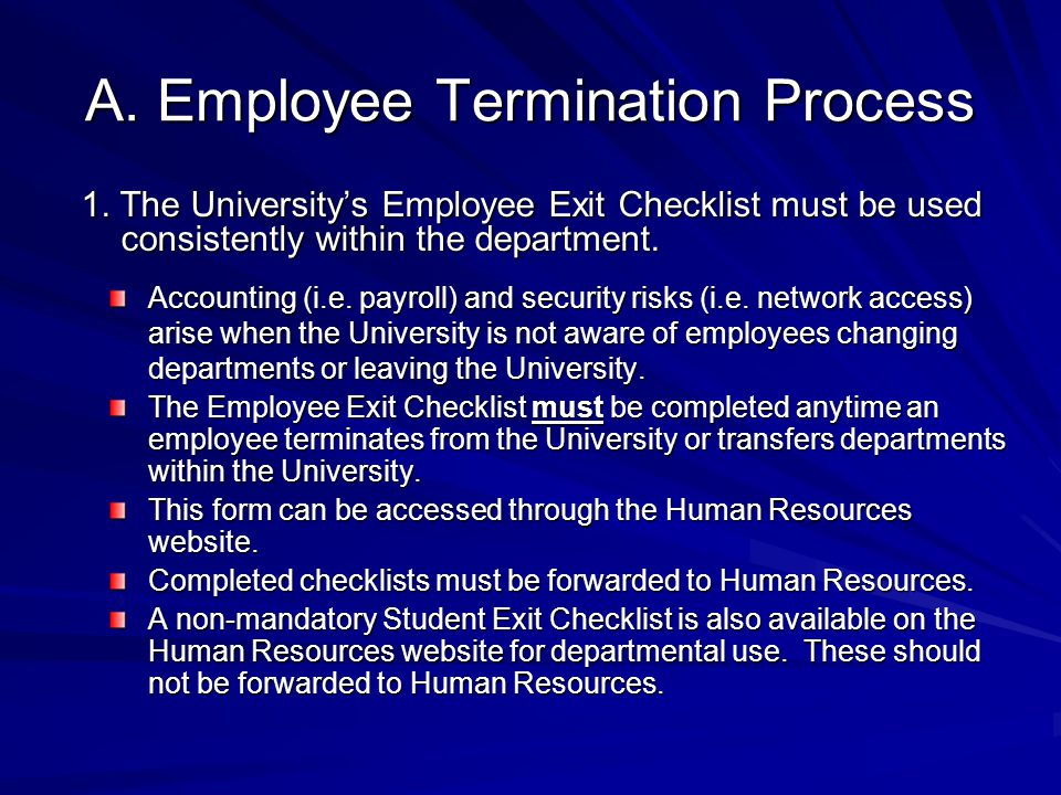 A. Employee Termination Process