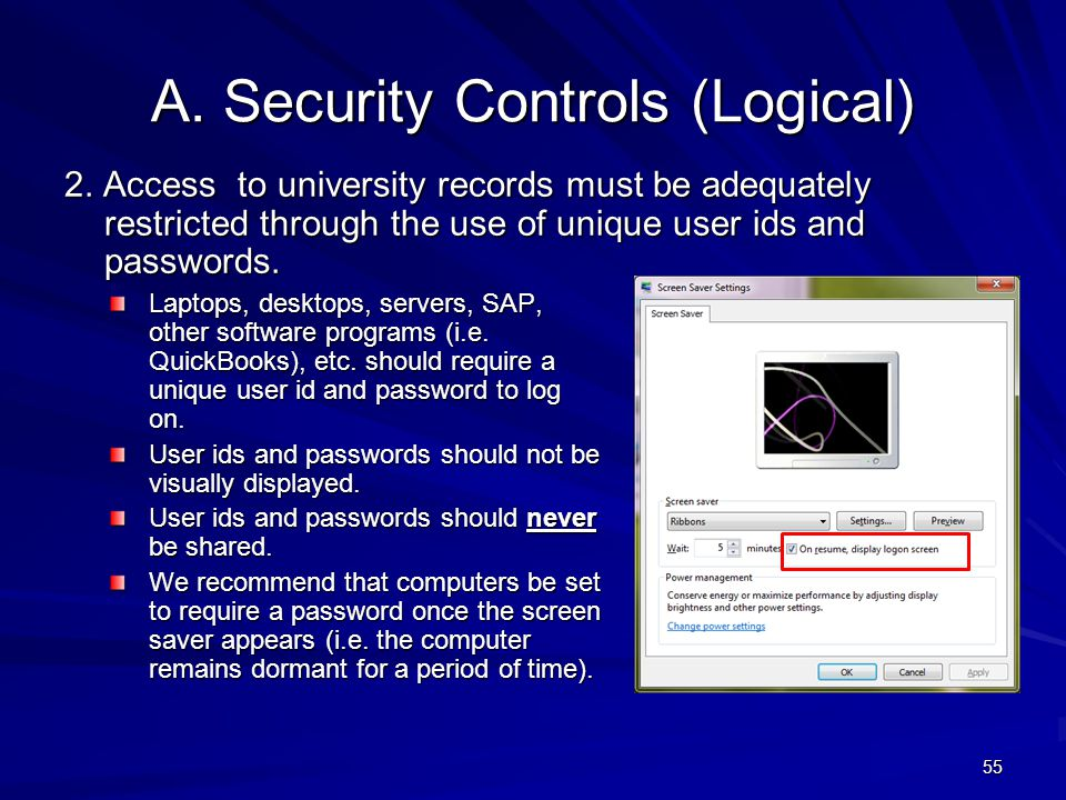 A. Security Controls (Logical)