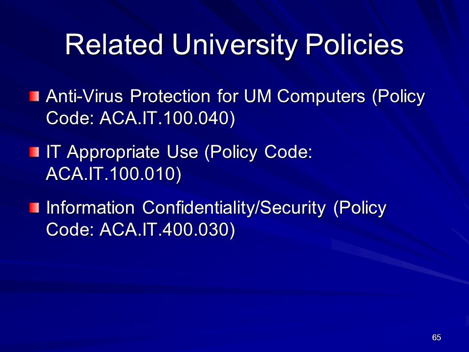 Related University Policies