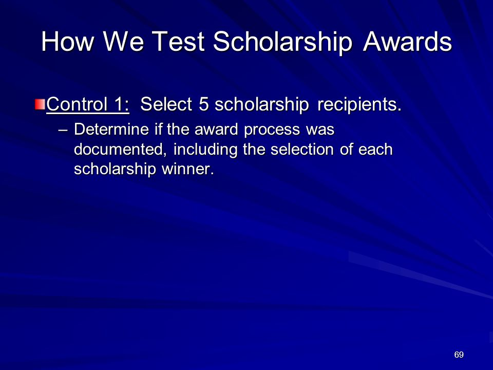How We Test Scholarship Awards