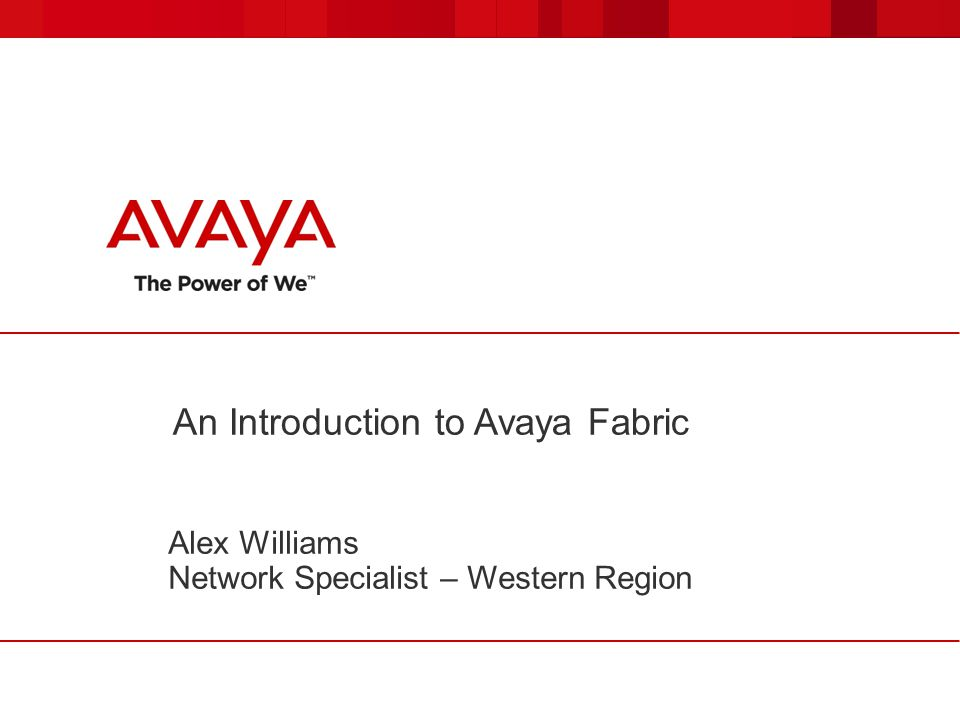 An Introduction to Avaya Fabric