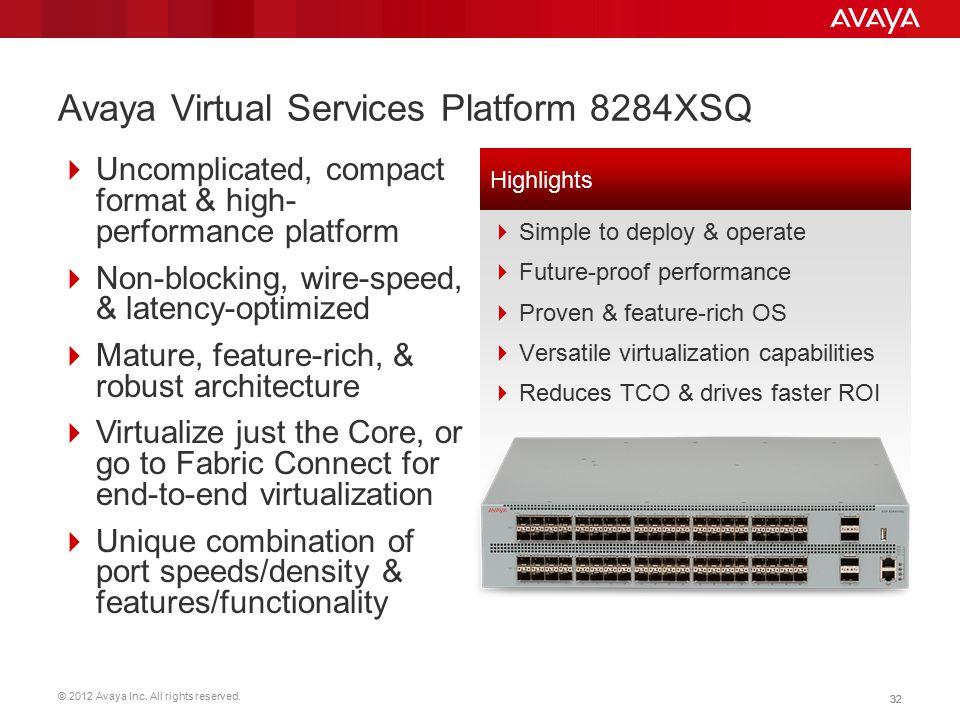 Avaya Virtual Services Platform 8284XSQ